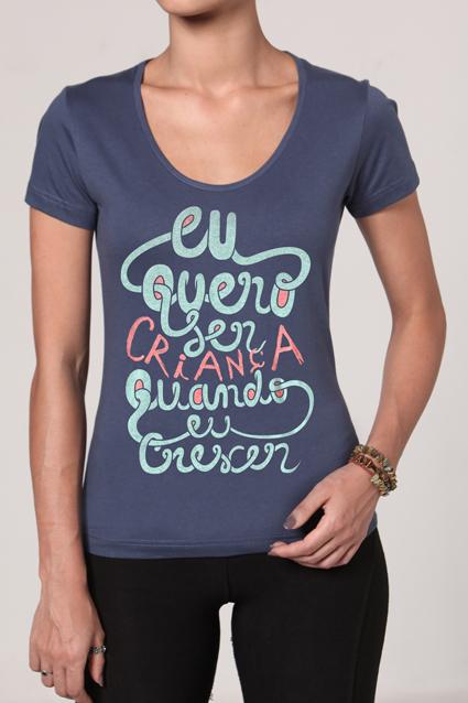 Camiseta Feminina Brancoala Criança - Loja Oficial