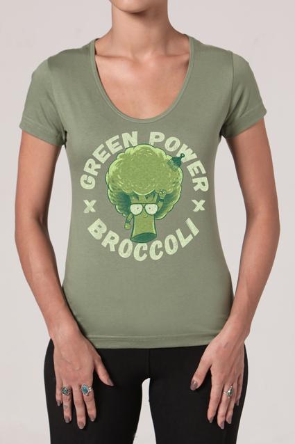 Camiseta Feminina Brancoala Brócolis - Loja Oficial
