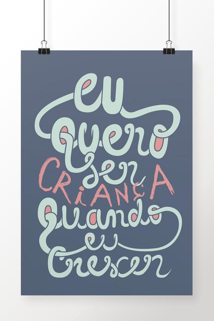 Poster Brancoala Criança - Loja Oficial