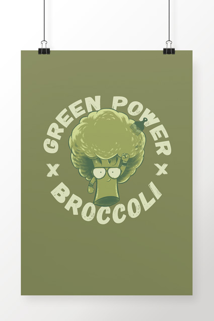 Poster Brancoala Brócolis - Loja Oficial